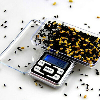 Mini Digital Scale 500g x 0.1g Jewelry Gold Silver Coin Grain Herb Pocket Size