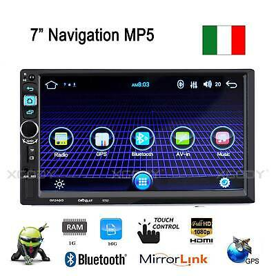"7"" 2 Din Autoradio Mp5 1080P Lettore Auto Stereo Radio Aux Bluetooth Handsfree"