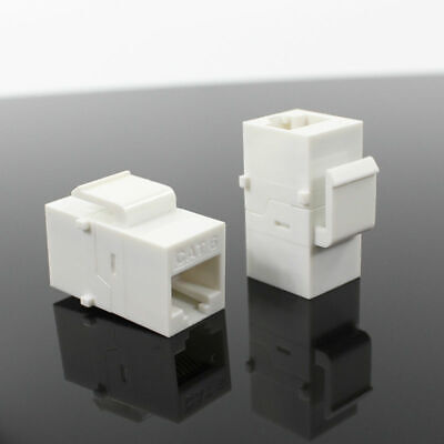 5 x CAT6 RJ45 Keystone In-line Coupler Extender Adapter Wall Plate Patch Panel