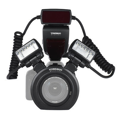 Yongnuo YN24EX TTL Macro Flash Speedlite 2pcs Flash Head + Adapter Rings Canon