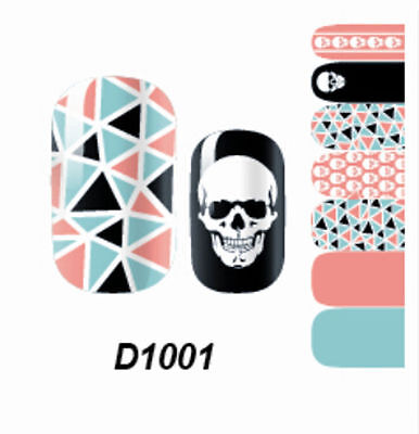 New Adhesive Polish Foils Art Decal Decor Skull Self Nail Wraps Sticker Cute PGS