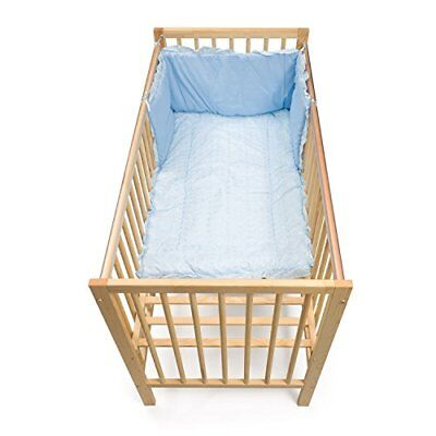 Junior Joy Embroidered Angle Cot Quilt and Bumper Set Blue