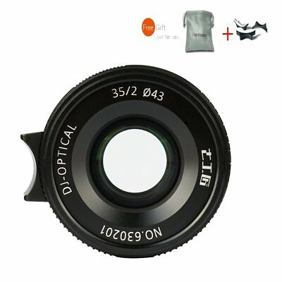 7artisans 35mm F2.0 Black Fixed Lens For Leica M-Mount Cameras M240 M3 M6 M7 M8