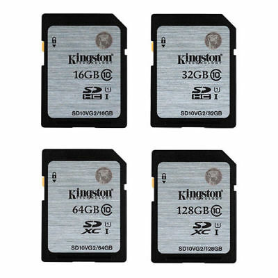 Kingston 8GB 16GB 32GB 64GB SDHC SDXC UHS-1 Flash Memory Card Original f.Camera