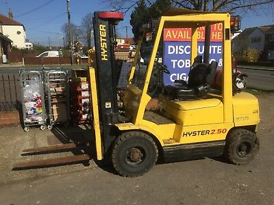 Hyster 2.5 Tonne Gas Forklift, Triple Mast, Side Shift,All I Great Working Order