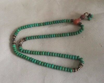 Chinese Exquisite turquoise beads chain Handwork Necklaces & Pendant