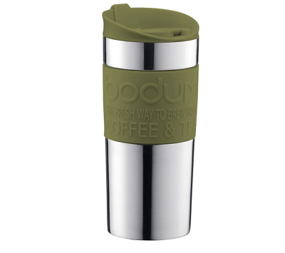 Bodum Double Wall Stainless Steel Travel Mug 350ML - Green 11068-947