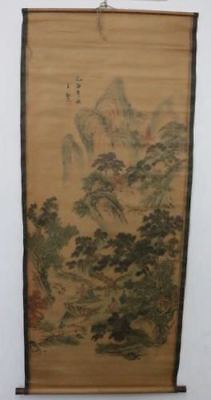 Old Collection Scroll Chinese Painting /Character&Landscape Painting