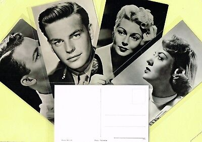 1950s Film Star Postcards issued in Holland (Ref: ANON13d)