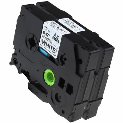2PK TZe231 Compatible for Brother TZ-231 Black on White P-Touch Label Tape 12mm