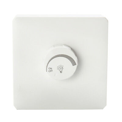 LED Dimmer switch 400w Turn On Off for Lighting Circuits White Plastic