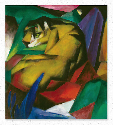 Franz Marc The Tiger  50x45 cm  STAMPA TELA CANVAS PRINT LIENZO TOILE