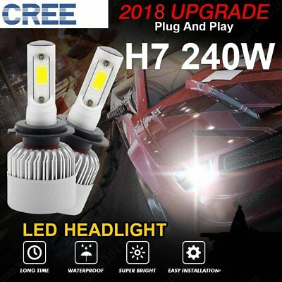 240W H7 LED Headlight Conversion Kit for Audi A3 Allroad A4 A5 A6 Q5 Low Beam US