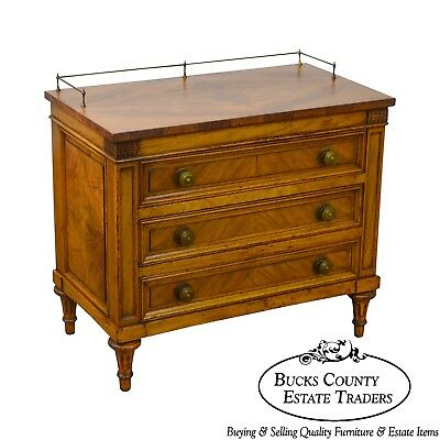 Karges Vintage Walnut French Louis XVI Style Chest Nightstand