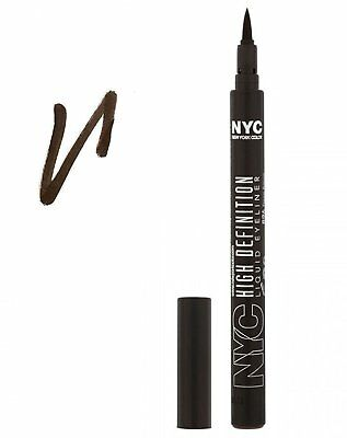 NYC High Definition Liquid Eye Liner Shade 896 Deep Brown Factory Sealed