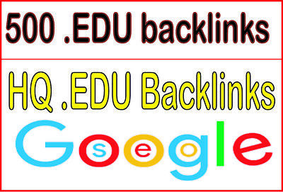 500 High Quality EDU PR10 to PR6 Backlinks - Boost Your SEO & Website Ranking