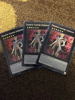 Yugoh Card Dhampir Vampire Sheridan Set Of 3