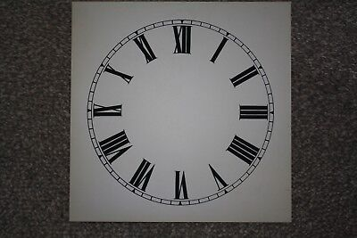 "Vintage Clock Replacement Parts/Spares Dial/Face White7"" (180mm) Roman Numerals"