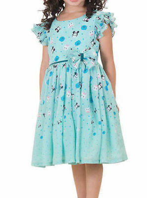 Disney Character Tsum Tsum Girls Chiffon Dress mint color Minnie Sulley