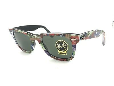 Ray-Ban RB2140 1137 Sunglass Rare Flower Print/Green G-15 Lens 50mm Authentic