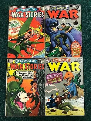 Lot of 4 Star Spangled War Stories #'s 129,130,133.135 - Dinosaur Issues