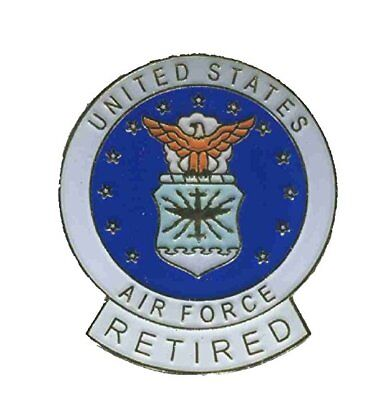 Air Force Retired Lapel Hat Cap Pin USAF Pin AirForce Pin FAST USA SHIPPING