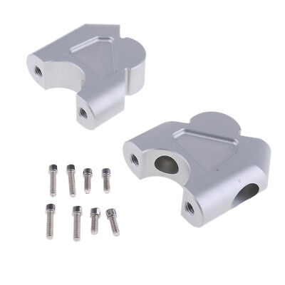 2 Pieces 32mm Handlebar Risers With Bolts for BMW R1200GS LC ADV Silver