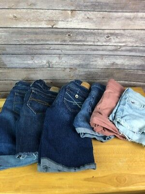 Shorts Lot 6 Abercrombie Fitch Hollister Aeropostale Long 24 00 Denim Jeans Xx