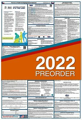 2019 Texas State and Federal Labor Law Poster (LAMINATED)