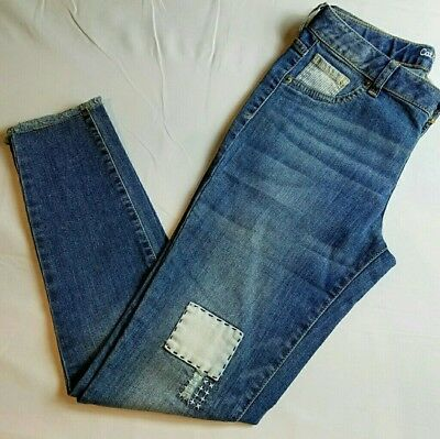 Cat & Jack Jeans / Jeggings Size 6X Slim Super Stretch Patch Patchwork New NWT