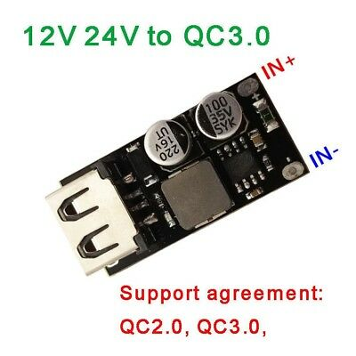 DC-DC Buck USB Charging Module 6-32V 12V 24V to QC3.0 Fast Charge for iphone FCP