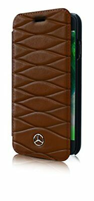 Mercedes-Benz Pattern III Genuine Leather Booktype Case for iPhone 678 Plus -