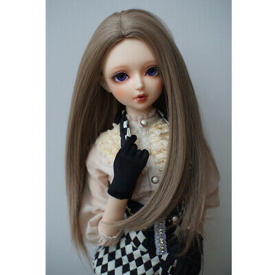 1/3 BJD Long Straight Hair Wig for SD DD DZ LUTS DOC DIY Making Accessory
