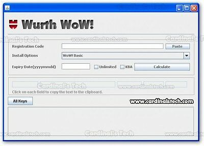 WoW Wurth software keygan activator Unlimited