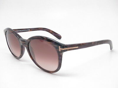 16e90064500d6 New Authentic Tom Ford TF 298 Riley 50F Havana with Brown Gradient  Sunglasses ~