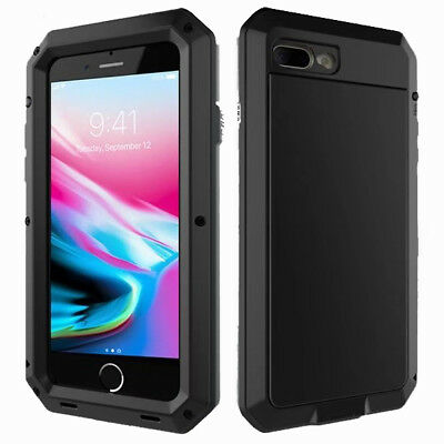 iPhone 8 & iPhone 7 Case Shockproof Metal Frame W/ Screen Protector Case Cover