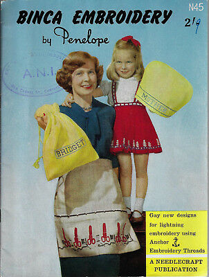 Binca Embroidery pattern book Penelope tapestry bag purse apron skirt cushions