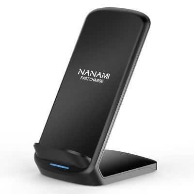 New NANAMI G600 Qi Quick Wireless Charger Folding 2 Coil iPhone USB Cable Japan