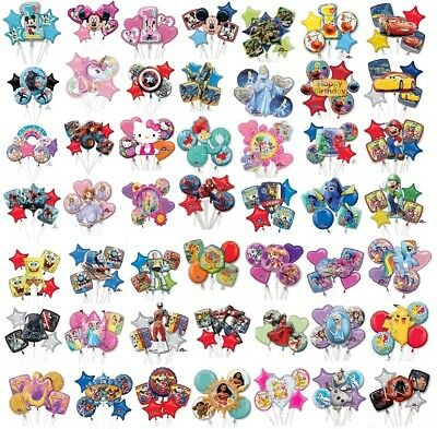 Bouquet Balloons Set Of 5 Mylar Birthday Party Decoration 59 Selections