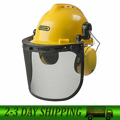 Oregon 563474 Chainsaw Safety Protective Helmet With Visor Combo Set Free Ship