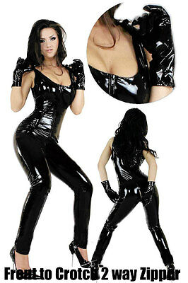 Woman Catsuit Sleeveless 10 pcs Wholesale Supply PU Leather 2 way Zipper Fetish