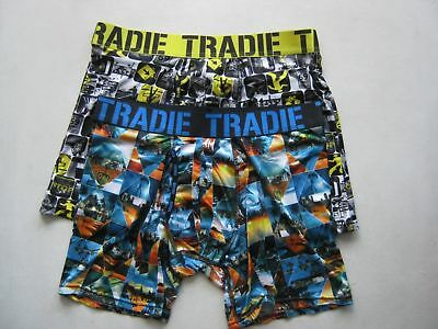 Pack of 2 Quick Dry Tradie Fly Front Mid Leg Trunk