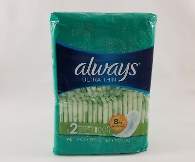 Always Ultra Thin long super; 40 count