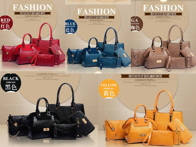 NEW Hot Women 6PCS set shoulder bag satchel handbag fashion handbags