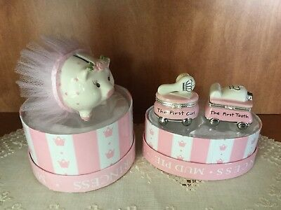 Mud Pie First Tooth & Curl of the Princess Baby AND Ballerina Pig Bank Nordstrom