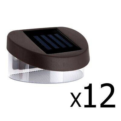 12x Solar Power LED Fence Lights Outdoor Garden Yard Pathway Lamp Auto Switch On
