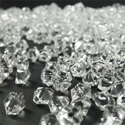 400 Clear Crystal Like Mini Ice Cubes Wedding Party Centerpieces