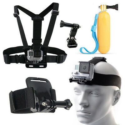 8-IN-1 Body Set of Head Chest Wrist Mount Accessories Kit Bundle for Gopro Hero