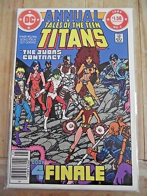 Tales of the Teen Titans Annual #3 Judas Contract Canadian Price variant 1984 VF