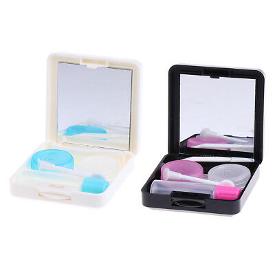 Mini Contact Lens Case Travel Eye Care Kit Soaking Storage Container Box